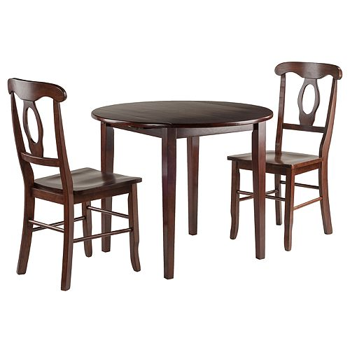 Winsome Clayton Drop-Leaf Table & Chairs 3-piece Set