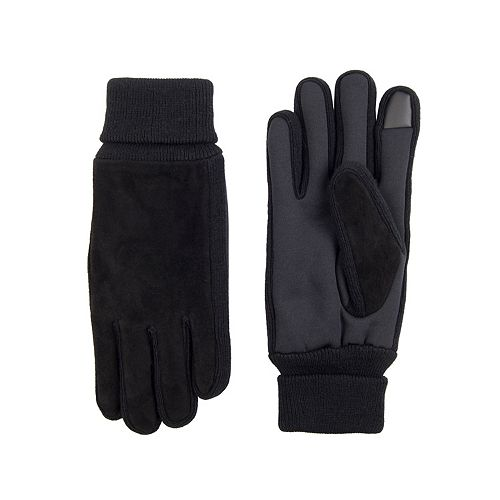 Men's Levi's® Sueded Ribbed Cuff Gloves