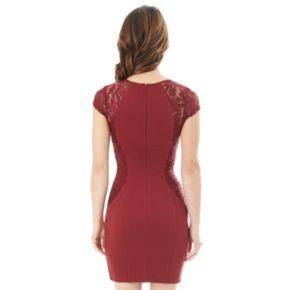 Juniors' IZ Byer Lace Bodycon Dress