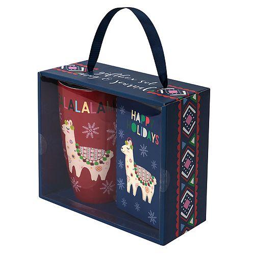 Belle Maison Holiday Llama Latte Mug