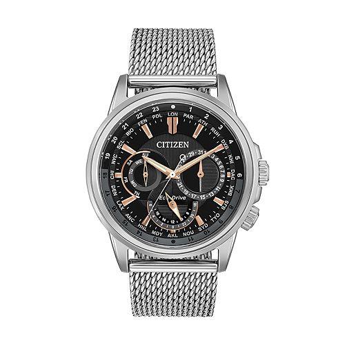 Citizen Eco-Drive Men's Calendrier World Time Watch - BU2020-70E