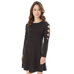 Juniors' IZ Byer Cutout Sleeve Sweaterdress