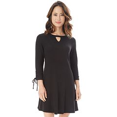 Juniors' IZ Byer Ruched Cutout Sweaterdress