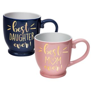 Belle Maison Best Mom / Best Daughter Mug Set