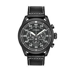 Citizen Eco-Drive Men's Avion Leather Chronograph Watch - CA4215-21H