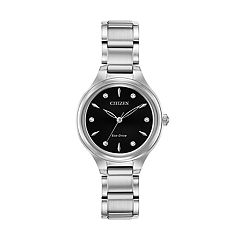 07b3f64fd Citizen Eco-Drive Women's Corso Diamond Accent Stainless Steel Watch -  FE2100-51E