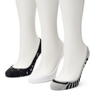 Women's SO® 3-Pack Mixed Print Liner Socks