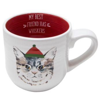 Belle Maison White Cat Mug