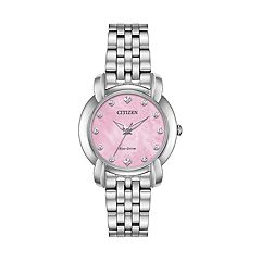 Citizen Women's Jolie Diamond Accent Stainless Steel Watch - EM0710-54Y