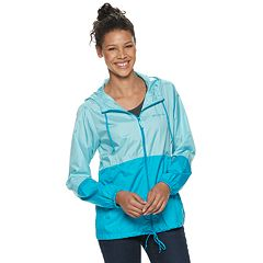 Women's Columbia Flash Forward Hooded Colorblock Windbreaker