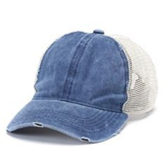 Women's Distressed Trucker Cap