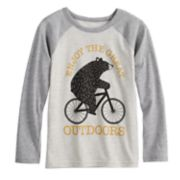 Boys 4-8 Jumping Beans® Bear on a Bike Raglan Graphic Tee