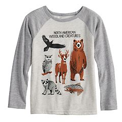 Boys 4-8 Jumping Beans® North American Woodland Creatures Raglan Graphic Tee