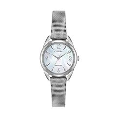 Drive from Citizen Eco-Drive Women's LTR Stainless Steel Mesh Watch - EM0680-53D