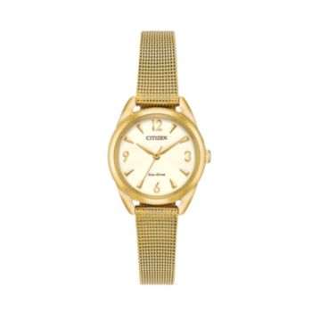Drive from Citizen Eco-Drive Women's LTR Stainless Steel Mesh Watch - EM0682-58P
