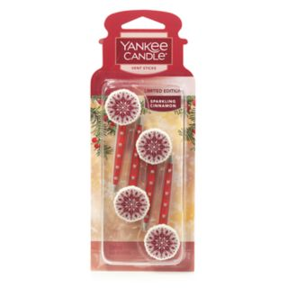 Yankee Candle Sparkling Cinnamon Car Vent Stick 4-piece Set