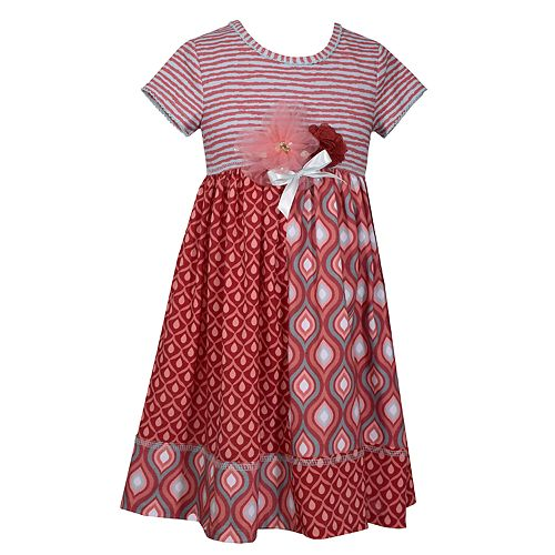 Toddler Girl Bonnie Jean Rosette Pieced Dress