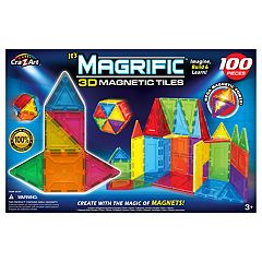 Cra-Z-Art Magrific 3D Magnetic Tiles 100-Piece Set