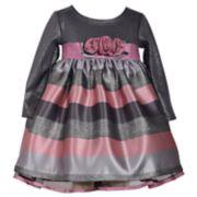 Toddler Girl Bonnie Jean Jacquard Stripe Dress