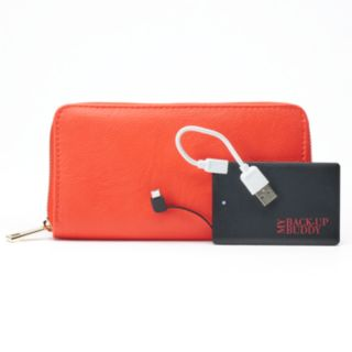 Apt. 9® RFID-Blocking Zip-Around Phone Charging Wallet