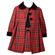 Toddler Girl Bonnie Jean Plaid Dress & Coat Set