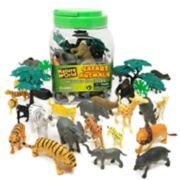 Boley 40-piece Safari Animals Bucket