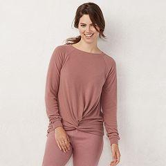 Women's LC Lauren Conrad Weekend Knot-Front Sweatshirt