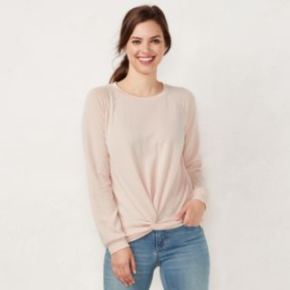 Women's LC Lauren Conrad Weekend Knot-Front Sweatshirt