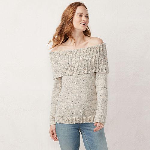 618d1c89c117ca Women s LC Lauren Conrad Off-the-Shoulder Sweater
