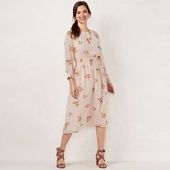Women's LC Lauren Conrad Floral Smocked Midi Dress