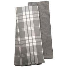 Food Network™ Plaid Dual-Purpose Kitchen Towel 2-pack