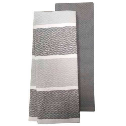 Food Network Textured Striped Kitchen Towel 2 Pack
