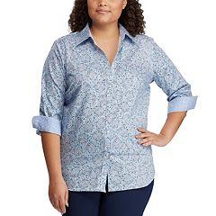 54de84f17c0 Plus Size Chaps Printed No-Iron Shirt