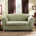 Sure Fit Stretch Madison Stripe 2-piece Loveseat Slipcover