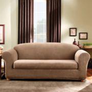 Sure Fit Stretch Madison Stripe 2-piece Sofa Slipcover