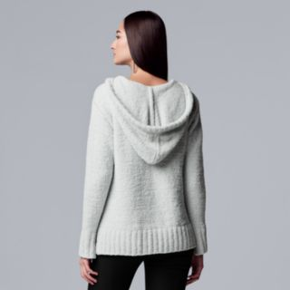 Women's Simply Vera Vera Wang French Terry Hooded Sweater