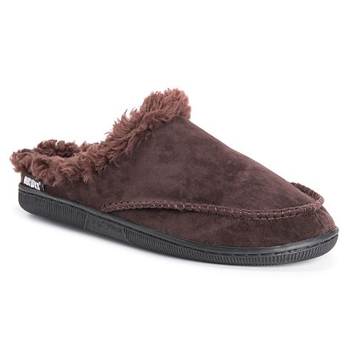 Men's MUK LUKS Faux Fur Lined Clog Slippers