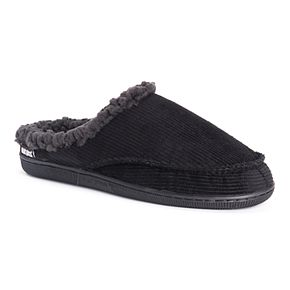 Men's MUK LUKS Faux Fur Lined Corduroy Clog Slippers