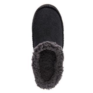 Men's MUK LUKS Faux Fur Lined Corduroy Clog Slippers