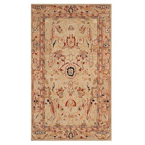 Safavieh Anatolia Tracey Framed Floral Wool Rug