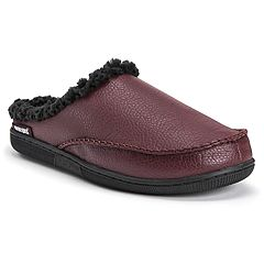 Men's MUK LUKS Faux Leather Clog Slippers