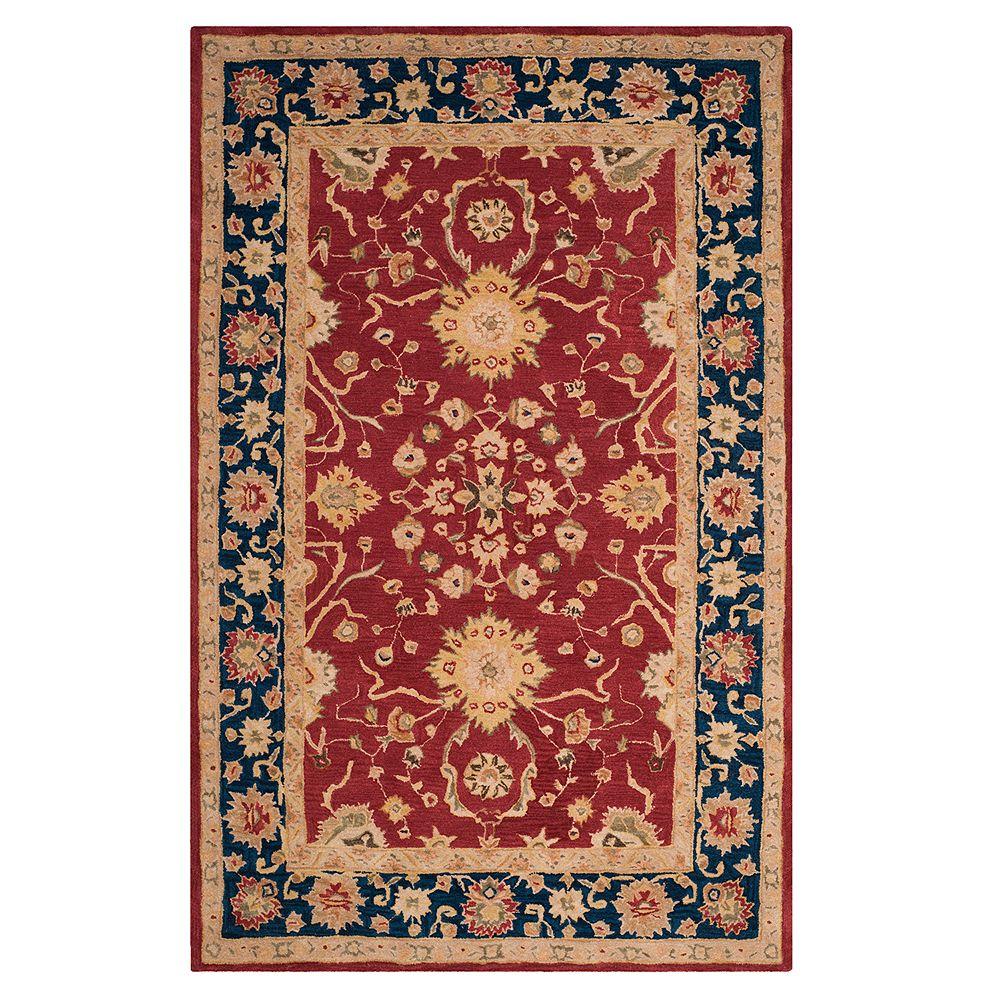 Safavieh Anatolia Lois Framed Floral Wool Rug