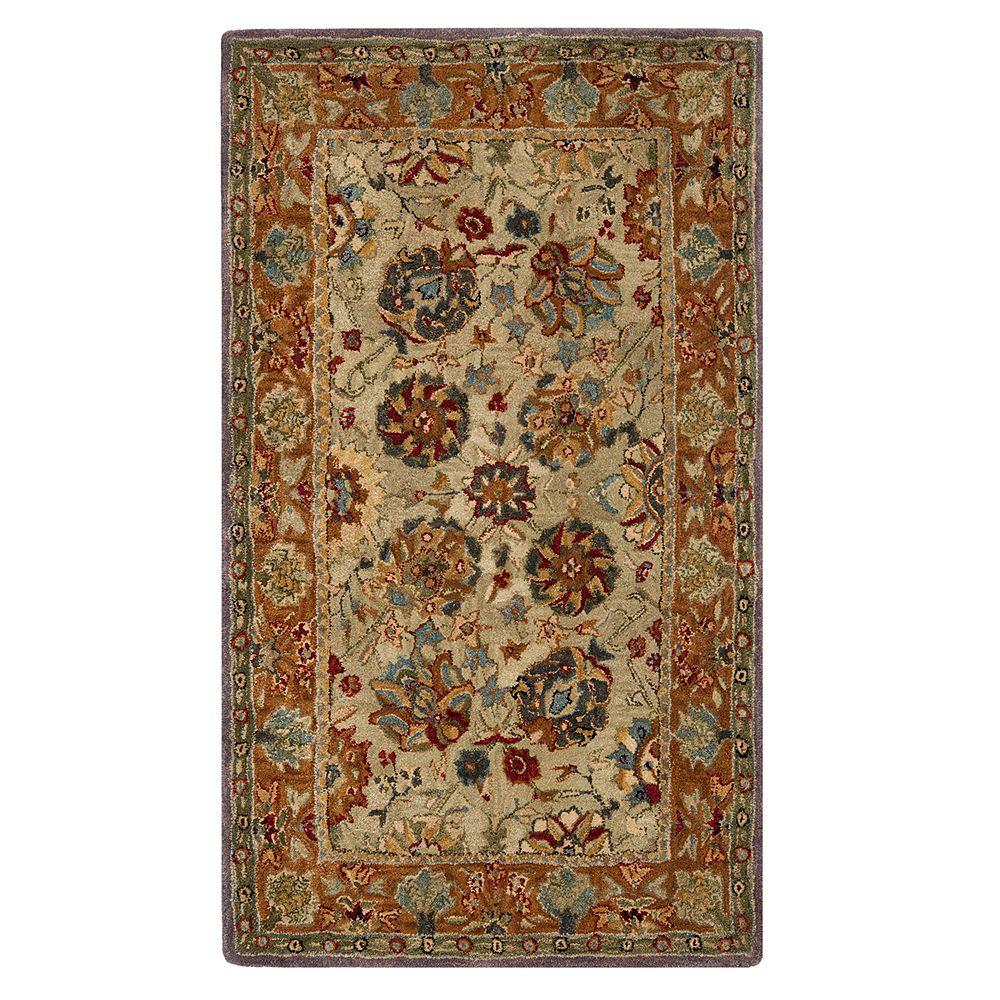 Safavieh Anatolia Nina Framed Floral Wool Rug