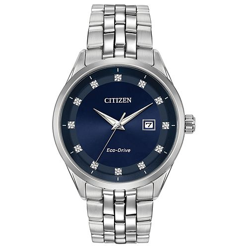Citizen Eco-Drive Men's Corso Diamond Stainless Steel Watch - BM7251-53M