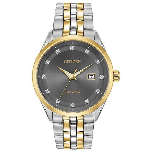 Citizen Eco-Drive Men's Corso Diamond Two Tone Stainless Steel Watch - BM7258-54H