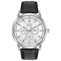 Citizen Eco-Drive Men's Corso Black Leather Watch - BU2070-04A