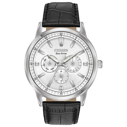 Citizen Eco-Drive Men's Corso Black Leather Watch - BU2070-04A