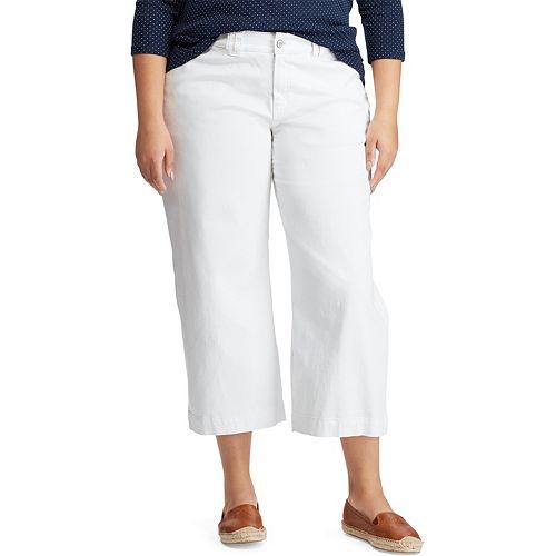 Plus Size Chaps Wide-Leg Denim Capri Pant