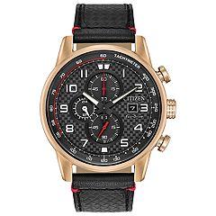 Citizen Eco-Drive Men's Primo Leather Chronograph Watch - CA0683-08E