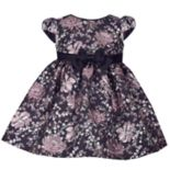 Toddler Girl Bonnie Jean Floral Brocade Dress
